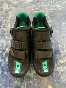 Specialized Torch Road Shoe Emerald Green And Black Size US 9.5 New
