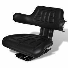 vidaXL Tractorstoel met Rugleuning Zwart Tractor Stoel Zitting Reservestoel