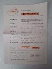 Vecchia pubblicità con descrizione materasso gommapiuma Pirelli