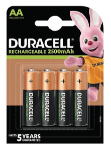 Duracell Recargable Ultra Aa X 4 - 2500MAH / 1.2V-LR06