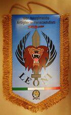 """Gagliardetto BTR. BCS """"LEONI"""" - """"185° RGT. ARTIGLIERIA PARACADUTISTI FOLGORE"""""""