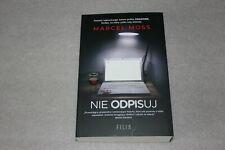 Nie odpisuj - Moss Marcel  -  POLISH BOOK - POLSKA KSIĄŻKA