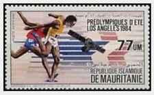 Timbre Sports JO Athlétisme Mauritanie PA216 ** lot 21338
