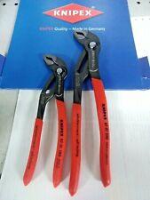 KNIPEX:2 Pinze mod.COBRA-2 pezzi mm.180+mm.250-Regolazione RAPIDA con Pulsante