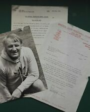 1976 Football TV Programme - ALL IN THE GAME  Schedule / Script / Letter / Photo