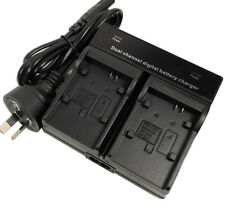 DUAL Battery AC Charger for Canon BP-808 BP-819 BP-820 BP-828 VIXIA HF Camcorder