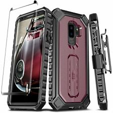 Samsung Galaxy S9 Plus Case Full-Body Belt Cover Clip Holster w Screen Protector