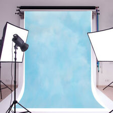 5x7ft Abstract Blurry Light Blue Photography Background Vinyl Photo Backdrops