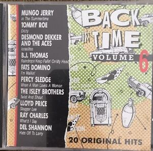 Back In Time Volume 6 CD 20 Original Hits Brand-New Sealed Free Shipping
