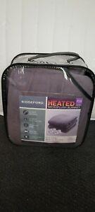 "New Full/Queen Biddeford OBGO5 MicroPlush  80x84"" Electric Heated Blanket Gray"
