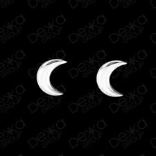 Genuine 925 Sterling Silver Moon Crescent Stud Earrings Girls Children Women Men