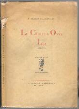 Le Cachet d' Onyx - Léa (1831-1832)  par J. BARBEY D' AUREVILLY  EO en 1919
