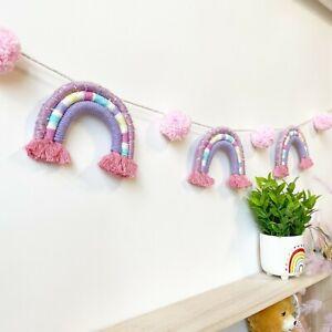 Rainbow Garland Nursery Kids Party Decoration Banner Garland Little Girl Decor
