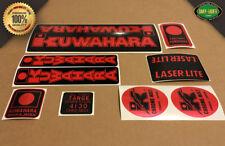 """Kuwahara LASERLITE BMX Custom """"RED CHROME"""" Decal Stickers - Version #1 1982-1985"""