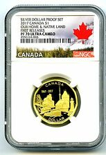 2017 CANADA 150TH ANNIVERSARY PROOF LOON NGC PF70 FIRST RELEASES LOONIE DOLLAR
