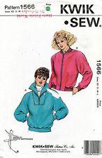 1980's VTG Kwik Sew Misses' Jackets Pattern 1566 Size XS-L UNCUT