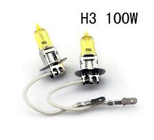 2Pcs H3 100W 3000K XENON Yellow Halogen Car Headlight Bulbs