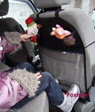 Multi-poche voiture siège arrière organisateur de stockage protecteur incolore avec 3 poches