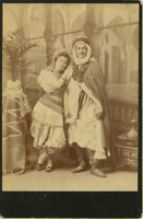 Algérie, Couple arabe  Vintage albumen print.  Tirage albuminé  10X15  Cir