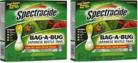 2 Pack Spectracide BAG-A-BUG Japanese Beetle Trap (16901)