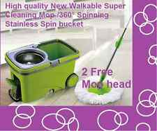 High quality NewWalkable Super Cleaning Mop /360° Spinning Stainless Spin bucket