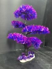 Tall Purple Synthetic Neon Tree Ornament For Aquarium Decoration