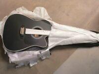 Vangoa 12 Strings Guitar Acoustic Electric Cutaway, Black 41 Inch