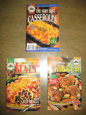 Lot Easy home cooking Taste of Italy Chicken Dishes Best Casseroles 3 cookbooks