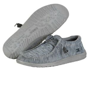 Hey Dude Wally B Sox Grey Men's Shoes Comfortable Lightweight SlipOn Casual