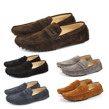 New Mens Faux Suede Casual Loafers Moccasins Slip on Shoes Avail. UK Sizes 7-11