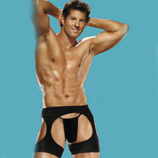 Black men sexy shorts 2pc.Chaps Plus G-String Bodysuit Lingerie Playwear