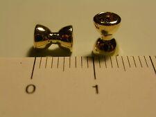 "4mm (5/32"") Fly Tying Sunken Dumbbell Eyes (pack of 10) - gold or silver"