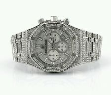 Audemars Piguet Royal Oak Chronograph 41 mm Stainless Steel 26 Ct Diamonds Video