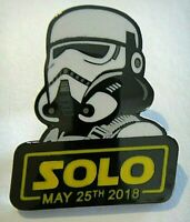"Solo May 25th, 2018 ""Stormtrooper"" Enamel Metal Pin -new"
