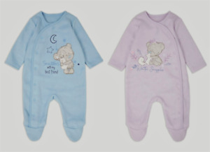 Tatty Teddy Baby Girls Boys Fleece Sleepsuit Babygrow BNWT