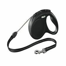 Flexi Classic Cord Extending Lead in Black for Dogs - 5 m - Medium