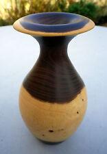 Beautiful Turned Wooden Vase Laburnum Wood