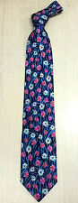 Korea Silk Tie colorful flowers picture High quality