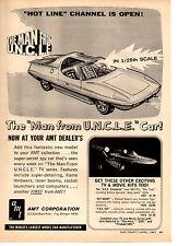 1967 MAN FORM U.N.C.L.E. CAR  ~  CLASSIC ORIGINAL AMT PRINT AD