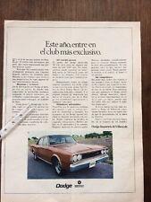 Publicidad automovil Dodge Dart 3700 GT