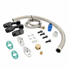 Oil Feed Oil Return Drain Line Hose Kit On T3 T4 T70 T66 T04e Turbo Turbocharger