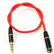3.5mm Jack 4Pole Male to Female Earphone Headphone Audio Adapter Extension Cable
