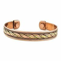 Bio Therapy Arthritis PainRelief Bangle Cuff Magnetic Copper Bracelet Healing IC