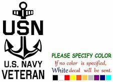 "US Navy Veteran  Funny Vinyl Decal Sticker Car Window laptop tablet truck 12"""