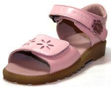 Sandales roses moyen en cuir pour fille de 2 à 16 ans