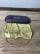 Wire Rim Spectacles Eyeglass 1/10 12k Gf Old Vtg Antique