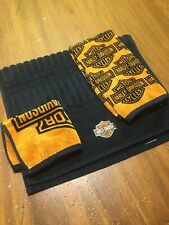 Harley Davidson Motor Cycles Towels And Wash Cloth Used Official Licensed
