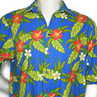 Vintage 80s Reyn Spooner Joe Kealoha Mens L Hawaiian Shirt Tiki Tropical Beach