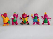 Lot of 5 Vintage BARNEY figures toys 1993 – Hard to Find – Cake Toppers - L@@K!