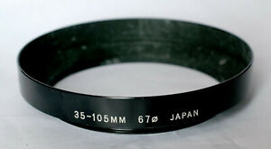 Unbranded 67mm metal lens hood to fit wide angle lenses.